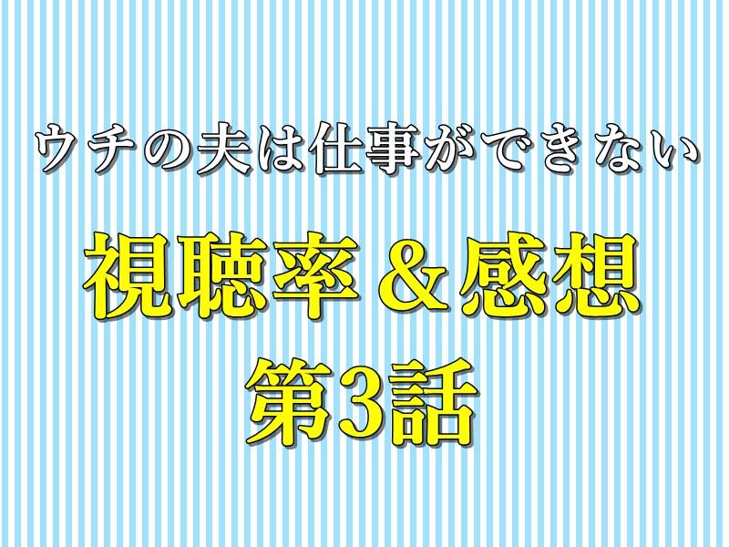 視聴率&感想_3話