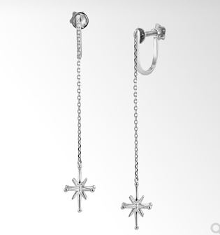 CROSSING STAR LONG EARRINGS